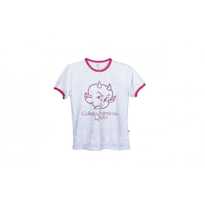 T-shirt con cuello y puño con sesgo